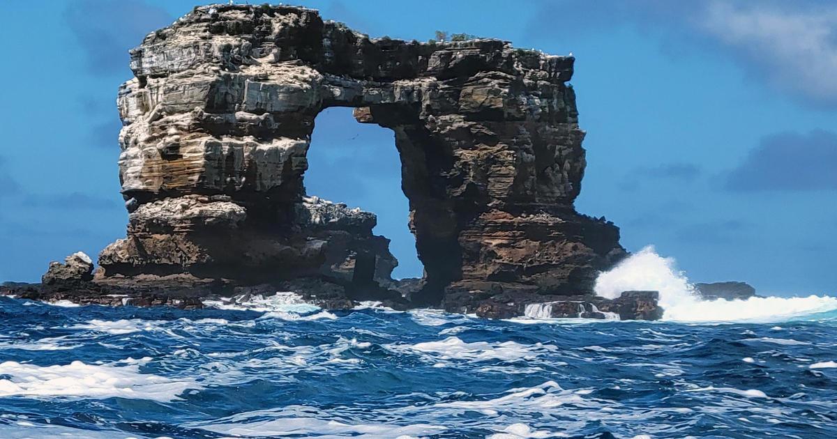 El famoso Arco de Darwin se derrumba debido a la erosión en las Islas Galápagos